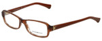 Emporio Armani Designer Eyeglasses EA3016-5099-53 in Striped Brown 53mm :: Rx Single Vision