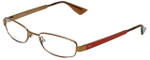 Emporio Armani Designer Reading Glasses EA9772-O9L in Brown Brass Lobster 50mm