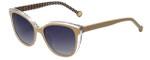 Carolina Herrera Designer Sunglasses SHE694-0AR7 in Ivory Crystal