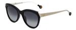 Carolina Herrera Designer Sunglasses SHE743-0700 in Black White