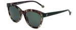 Carolina Herrera Designer Sunglasses SHE743-07D7 in Dark Olive Green