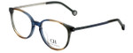 Carolina Herrera Designer Eyeglasses VHE759K-06NR in Blue Beige Green 50mm :: Rx Single Vision