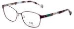 Carolina Herrera Designer Eyeglasses VHE109K-0S46 in Purple Havana 55mm :: Progressive