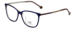 Carolina Herrera Designer Eyeglasses VHE758K-0AD4 in Purple Havana 54mm :: Progressive