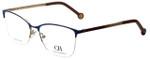 Carolina Herrera Designer Reading Glasses VHE108K-0354 in Blue 54mm