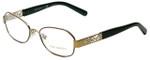 Tory Burch Designer Eyeglasses TY1043-3061 in Brown Gold 52mm :: Rx Single Vision