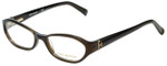 Tory Burch Designer Eyeglasses TY2002-735 in Brown Olive 50mm :: Rx Single Vision