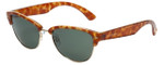 Isaac Mizrahi Designer Sunglasses Wayfarer in Honey-Tortoise with Grey Lens