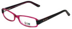 Daisy Fuentes Designer Eyeglasses DFPEACE410-130 in Berry Black 52mm :: Progressive