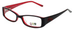 Daisy Fuentes Designer Eyeglasses DFPEACE417-021 in Black 50mm :: Progressive