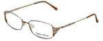 Sophia Loren Designer Eyeglasses SL-M177-183 in Brown/Gold 51mm :: Rx Single Vision