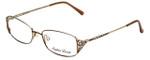 Sophia Loren Designer Eyeglasses SL-M177-183 in Brown/Gold 51mm :: Progressive