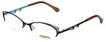Project Runway Designer Eyeglasses PR122M-171 in Brown Aqua 52mm :: Custom Left & Right Lens