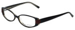 Via Spiga Designer Eyeglasses Domicella-500 in Black 53mm :: Rx Single Vision