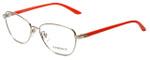 Versace Designer Eyeglasses 1221-1252-52 in Pale Gold/Orange 52mm :: Custom Left & Right Lens