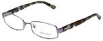 Versace Designer Eyeglasses 1176-1029 in Lilac Striped Turquoise 53mm :: Progressive