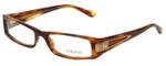 Versace Designer Eyeglasses 3070B-163-52 in Brown Stripe 52mm :: Rx Single Vision