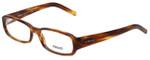 Versace Designer Eyeglasses 3072-163 in Brown Stripe 53mm :: Rx Single Vision