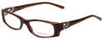 Versace Designer Eyeglasses 3076B-585 in Brown Marble 50mm :: Rx Single Vision