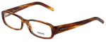Versace Designer Eyeglasses 3072-163 in Brown Stripe 53mm :: Progressive