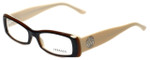 Versace Designer Eyeglasses 3080-405 in Brown/Beige 50mm :: Rx Bi-Focal
