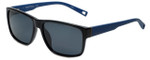 Nautica Designer Polarized Sunglasses N6203S-001 in Black with Grey Lens