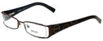 Versus by Versace Designer Eyeglasses 7071-1006 in Dark Brown 49mm :: Custom Left & Right Lens