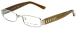 Versus by Versace Designer Eyeglasses 7083-1000 in Silver & Gold Stripes 49mm :: Custom Left & Right Lens
