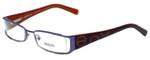 Versus by Versace Designer Eyeglasses 7071-1200 in Blue/Brown 49mm :: Rx Single Vision