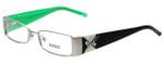 Versus by Versace Designer Eyeglasses 7074-1212 in Black/Green 50mm :: Rx Single Vision