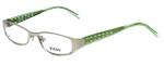 Versus by Versace Designer Eyeglasses 7080-1000 in Silver/Green 49mm :: Rx Single Vision