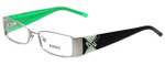 Versus by Versace Designer Eyeglasses 7074-1212 in Black/Green 50mm :: Progressive