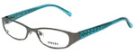 Versus Designer Eyeglasses 7080-1001 in Gunmetal/Blue 49mm :: Rx Bi-Focal