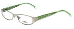 Versus by Versace Designer Reading Glasses 7080-1000 in Silver/Green 49mm