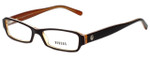 Versus Designer Eyeglasses 8038-487 in Brown Orange 51mm :: Progressive