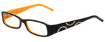 Versus Designer Eyeglasses 8071-707 in Black/Orange 51mm :: Progressive