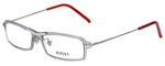 Versus by Versace Designer Eyeglasses 7076-1000 in Smoke/Red 49mm :: Rx Bi-Focal