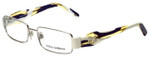 Dolce & Gabbana Designer Reading Glasses DG1182-345 in White Silver 52mm