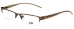 Dolce & Gabbana Designer Eyeglasses DG4158-J78-49 in Beige Gold 49mm :: Rx Single Vision