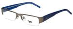 Dolce & Gabbana Designer Reading Glasses DG5017-010 in Gunmetal/Blue 49mm