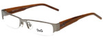 Dolce & Gabbana Designer Reading Glasses DG5017-018 in Silver Wood 51mm