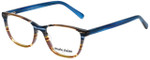Marie Claire Designer Eyeglasses MC6245-IST in Indigo Stripe 52mm :: Custom Left & Right Lens