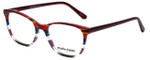 Marie Claire Designer Eyeglasses MC6246-BST in Bordeaux Stripe 53mm :: Custom Left & Right Lens