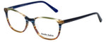Marie Claire Designer Eyeglasses MC6246-IST in Indigo Stripe 53mm :: Custom Left & Right Lens