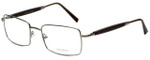 Gold & Wood Designer Eyeglasses 411.5-114 in Gunmetal 55mm :: Custom Left & Right Lens