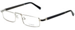 Gold & Wood Designer Eyeglasses Centaur-02 in Silver 52mm :: Progressive