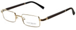 Gold & Wood Designer Eyeglasses Matar-01 in Gold 48mm :: Progressive