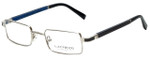 Gold & Wood Designer Eyeglasses Matar-04 in Silver Blue 48mm :: Progressive