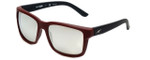Arnette Designer Sunglasses Swindle AN4218-23256G in Burgundy Black & Silver Mirror Lens