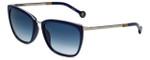 Carolina Herrera Designer Sunglasses SHE068-579B in Blue